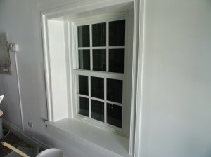 Completed window! AND to the rescue once again. Photo by Rene Carrillo, AND Construction.