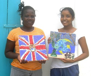 Finished mosaics show just how artistic the kids are!