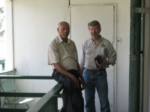 Dr. Keith with Mr. Allen the manager of Timco and generous artifact  donor to the museum.