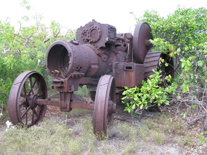 Burrell Steam Traction Engine on West Caicos